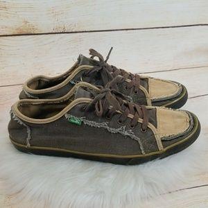 Men's Sanuk low top canvas boat shoes lace up 11